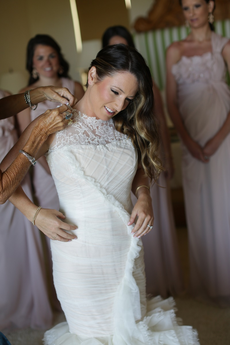 shirred wedding gown petite bride mexico weddings oopalmilla elena damy destination wedding
