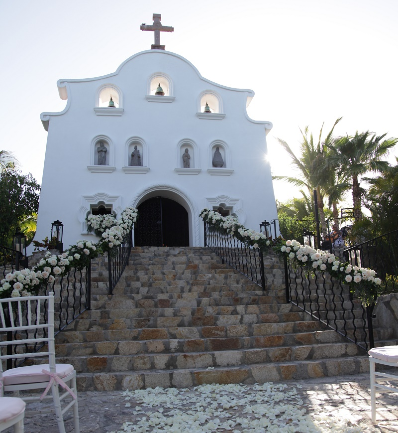 traditional chapel ceremonies Cabo Weddings One and Only Palmilla Elena Damy Event Design Cabo Chris Plus Lynn Photo
