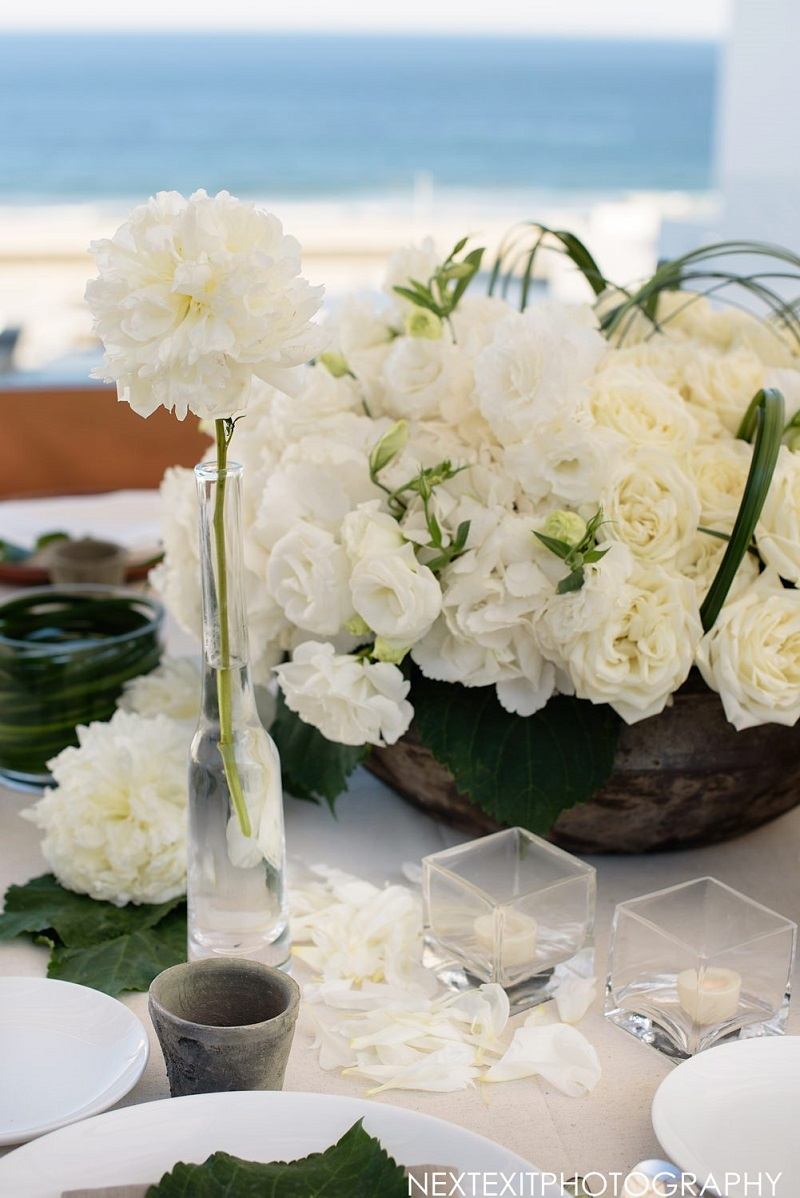 White flowers floral designer cabo san lucas viceroy cabo weddings