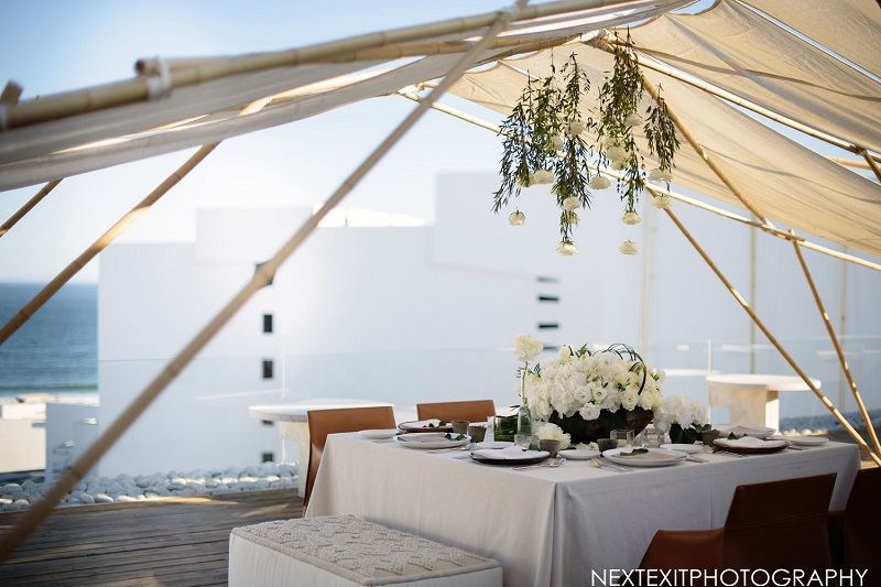Modern Wedding Design Elena Damy Destination Wedding Planners  Floral Designers Cabo Mar Adentro Hotel Weddings Next Exit Photography 72