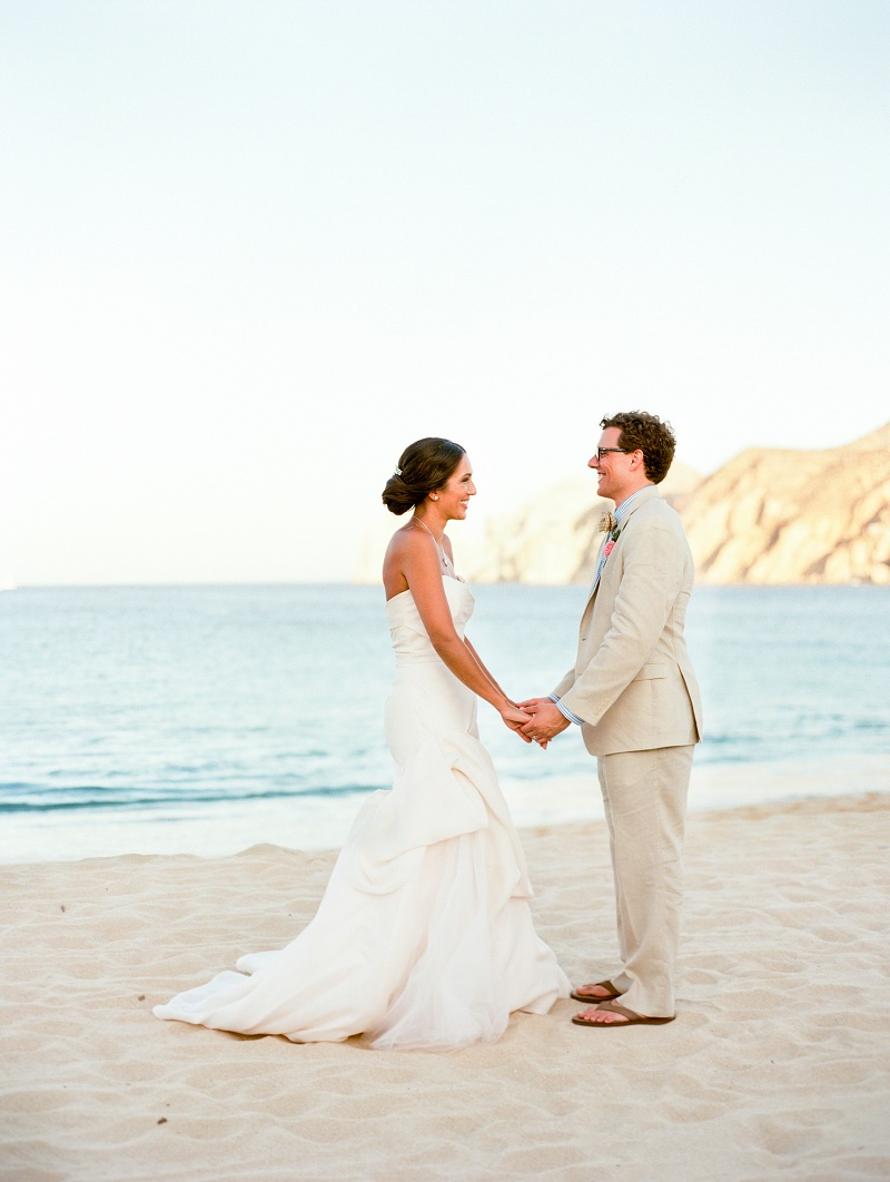 bride and groom photos on the beach mexico elena damy destination weddings nancy aidee photography