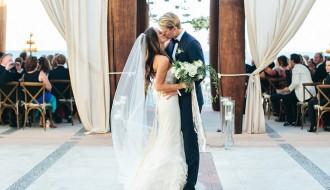 bride-and-groom-recessional-outdoor-weddings-casa-turquesa-pedregal-baja-mexico-weddings-elena-damy-planner