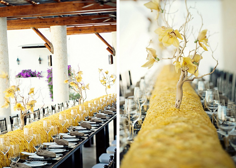 long-reception-tables-yellow-roses-manzanita-branches-orchids-las-ventanas-elena-damy-meka-and-shon