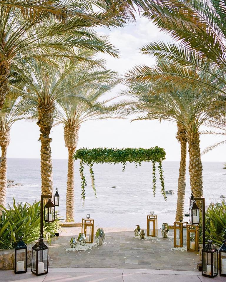 hanging chuppahs esperanza resort weddings elena damy floral design rebecca yale photography