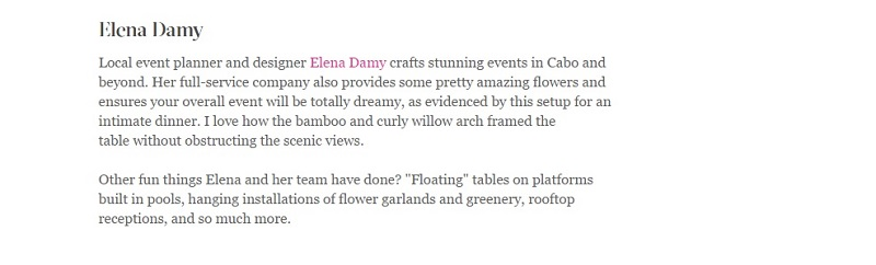 elena damy martha stewart magazine cabo weddings