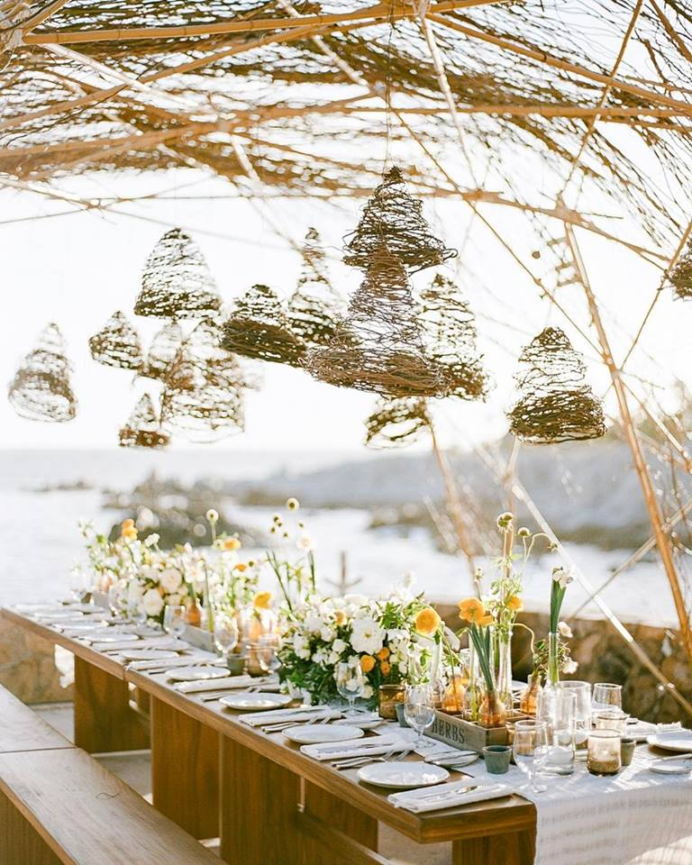 floating flowers elena damy tablescape cabo weddings rebecca yale photography