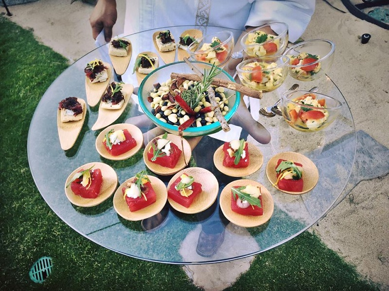 Mexican-inspired Hors doeuvres resort at pedregal corporate events cabo event planner elena damy