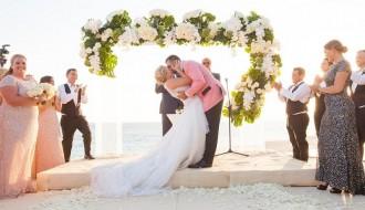 wedding ceremony on the beach cabo destination wedding elena damy inside weddings