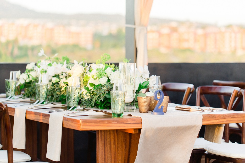 Cabo Wedding Designers Elena Damy Low Centerpieces Rooftop Views The Cape Sara Richardson-6224