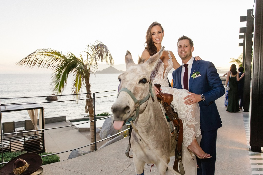 Cabo Wedding Traditions Mexico Burro Rides The Cape Hotel Elena Damy Sara Richardson-1592