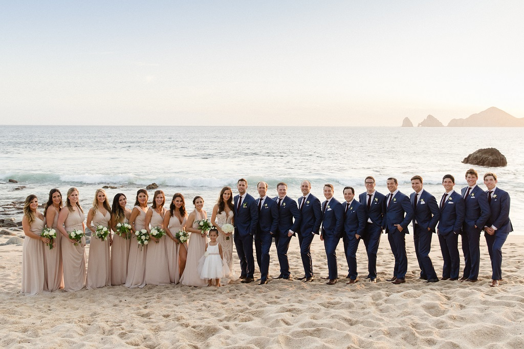 Cabo Weddings Bridal party Photos on the beach Mexico Elena Damy Sara Richardson-1283