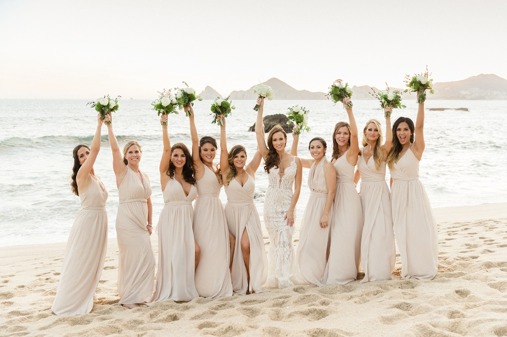 Cabo Weddings Bridesmaids on the beach The cape Hotel Elena Damy Wedding Planners Sara Richardson-1439