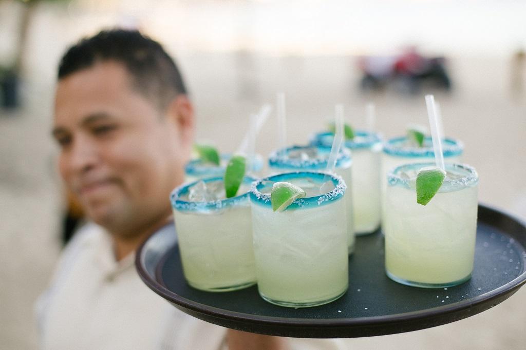 Margaritas at Hacienda Cocina y Cantina in Cabo San Lucas, Mexico