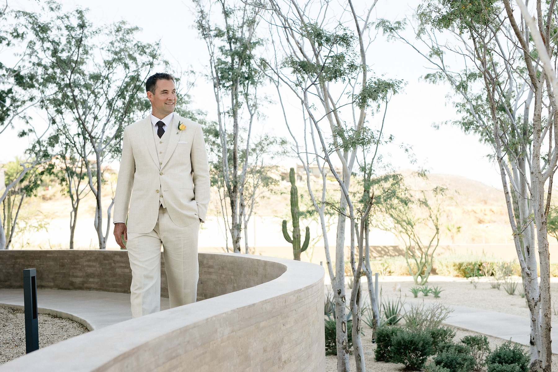 Groom Walking To Ceremony Cabo Weddings