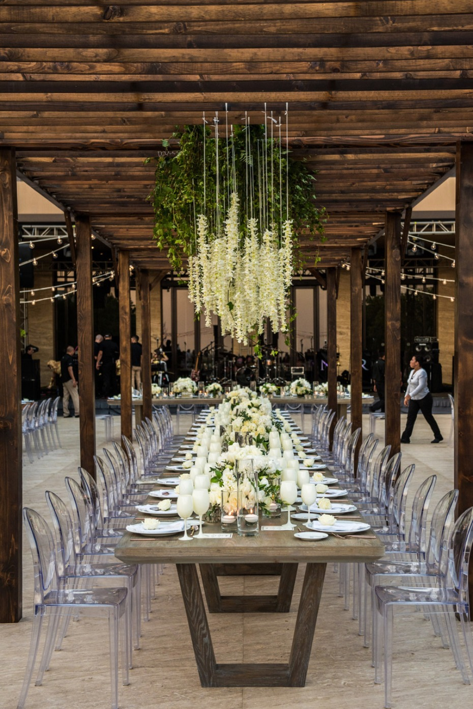 long dinner tables for outdoor weddings cabo san lucas elena damy robert evans photo