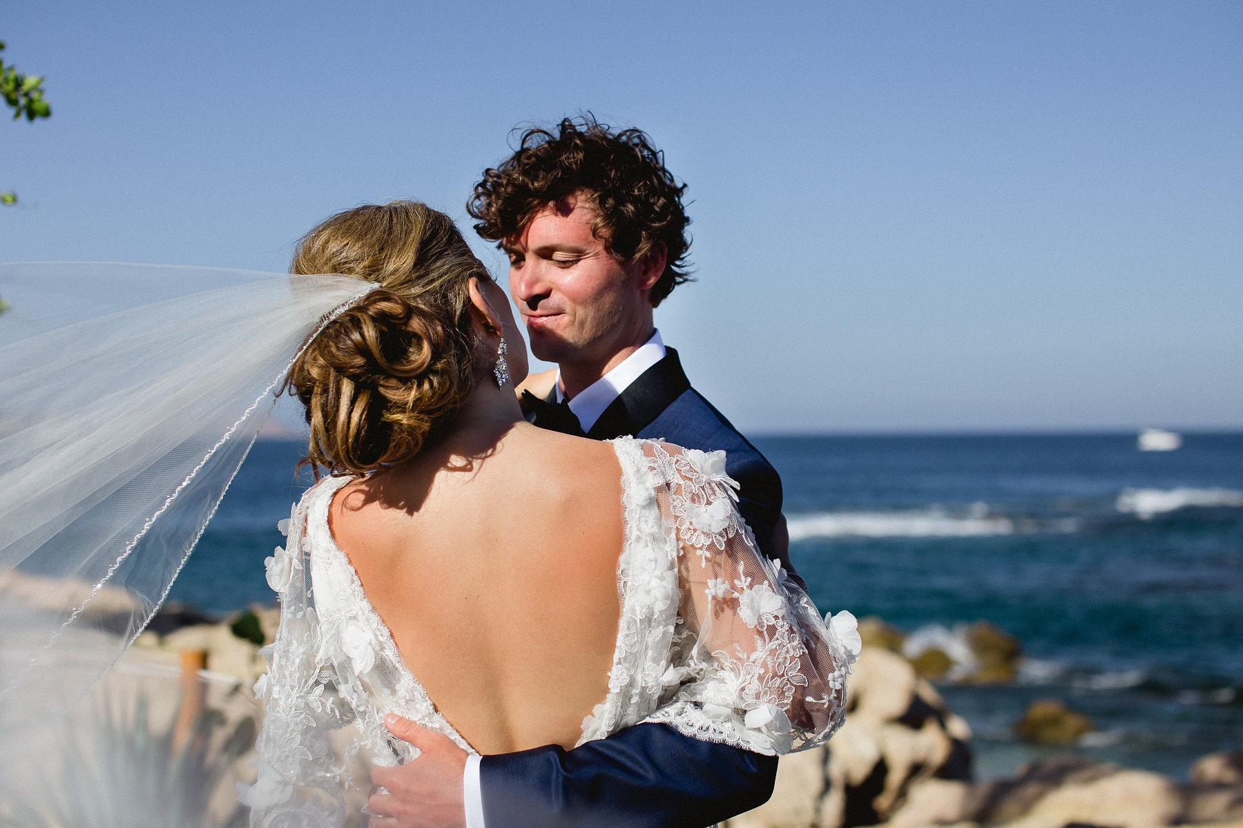 first look wedding photos chileno bay wedding elena damy cabo destination wedding planners