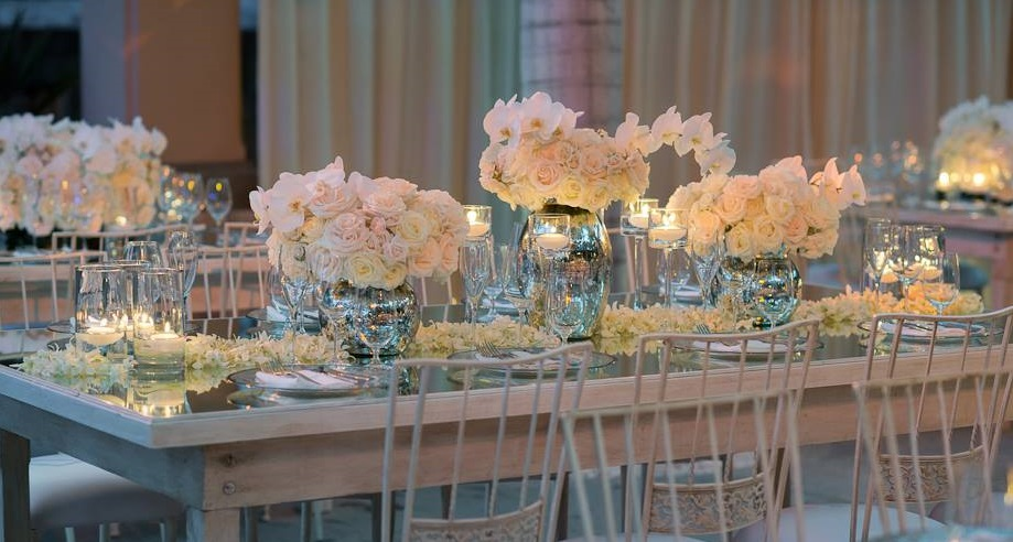 Mirror Tables Weddings Mexico Elena Damy Cabo Event Planners
