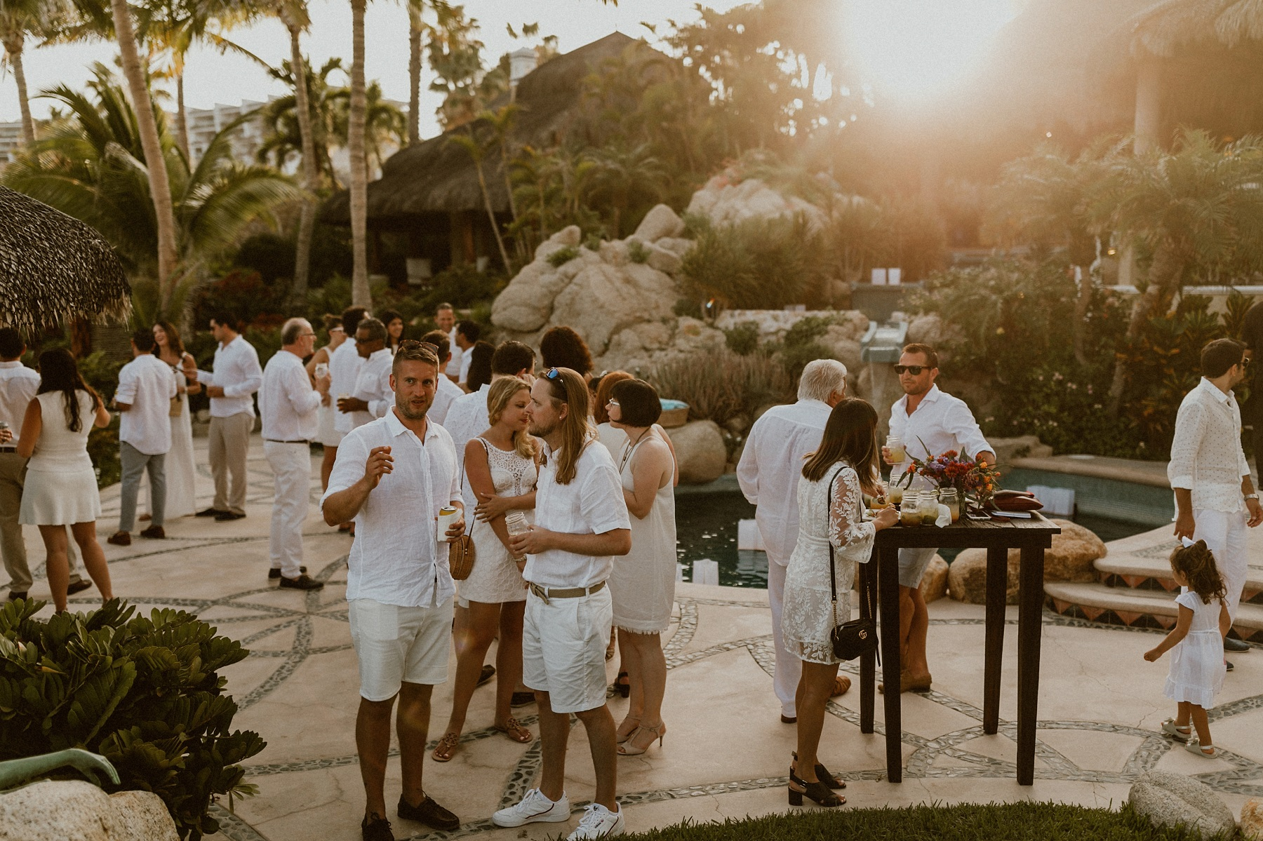 welcome party all white theme private villas for rent for weddings cabo elena damy wedding planners