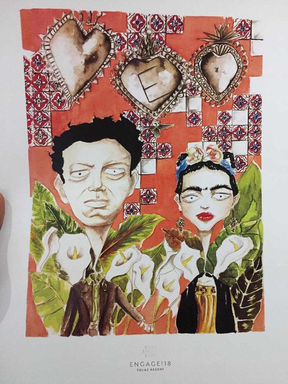 frida kahlo inspired art by negrito romero mexican illustrator event favors