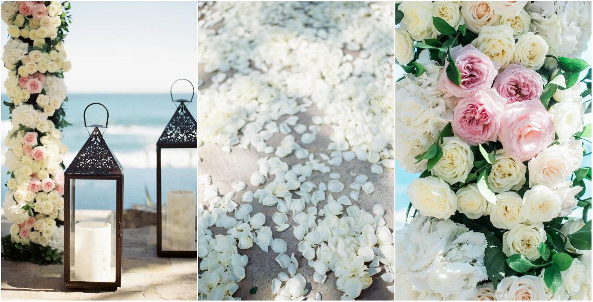 Beach Wedding Ceremony Flowers Elena Damy