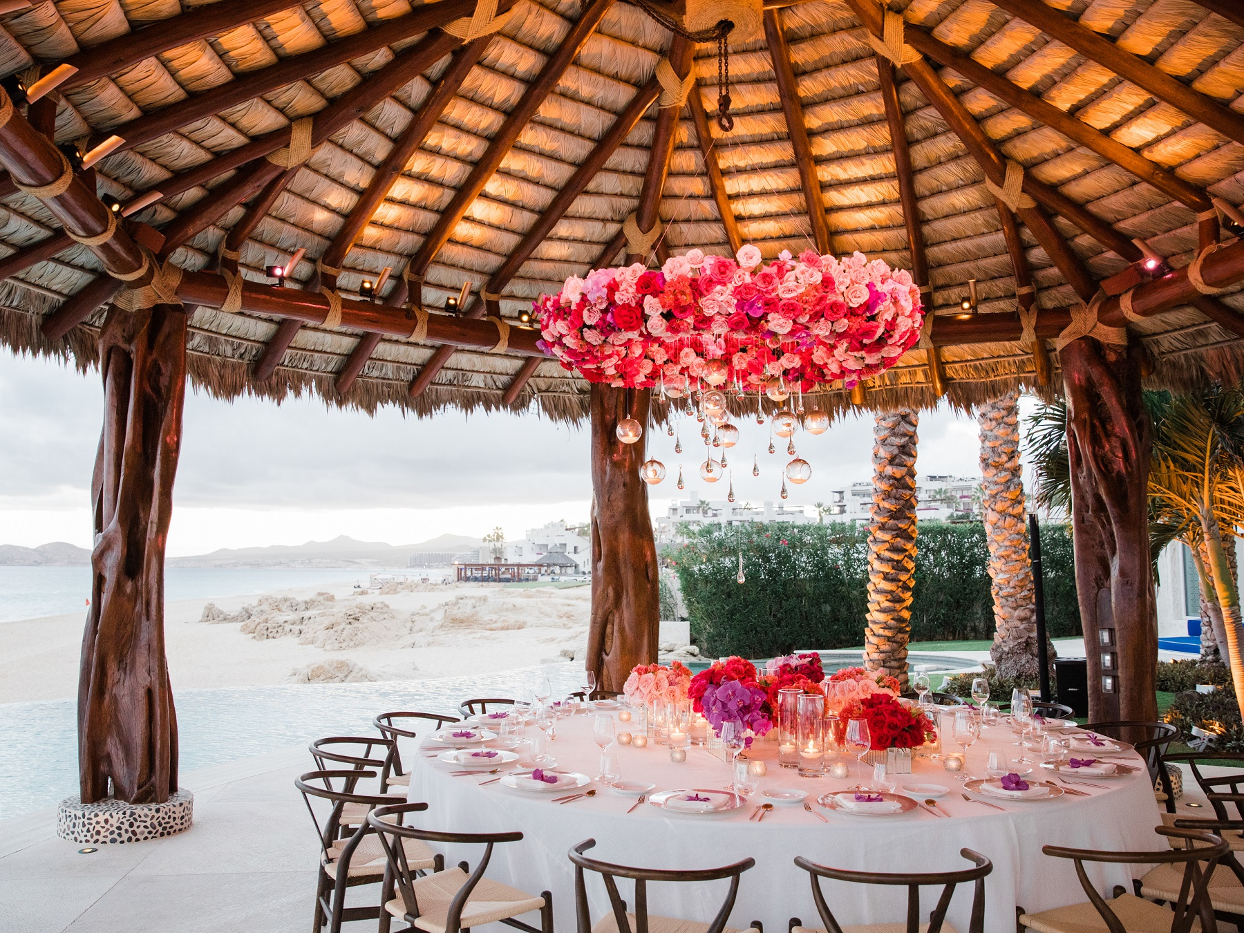 hanging flowers floral design for weddings mexico elena damy cabo weddings
