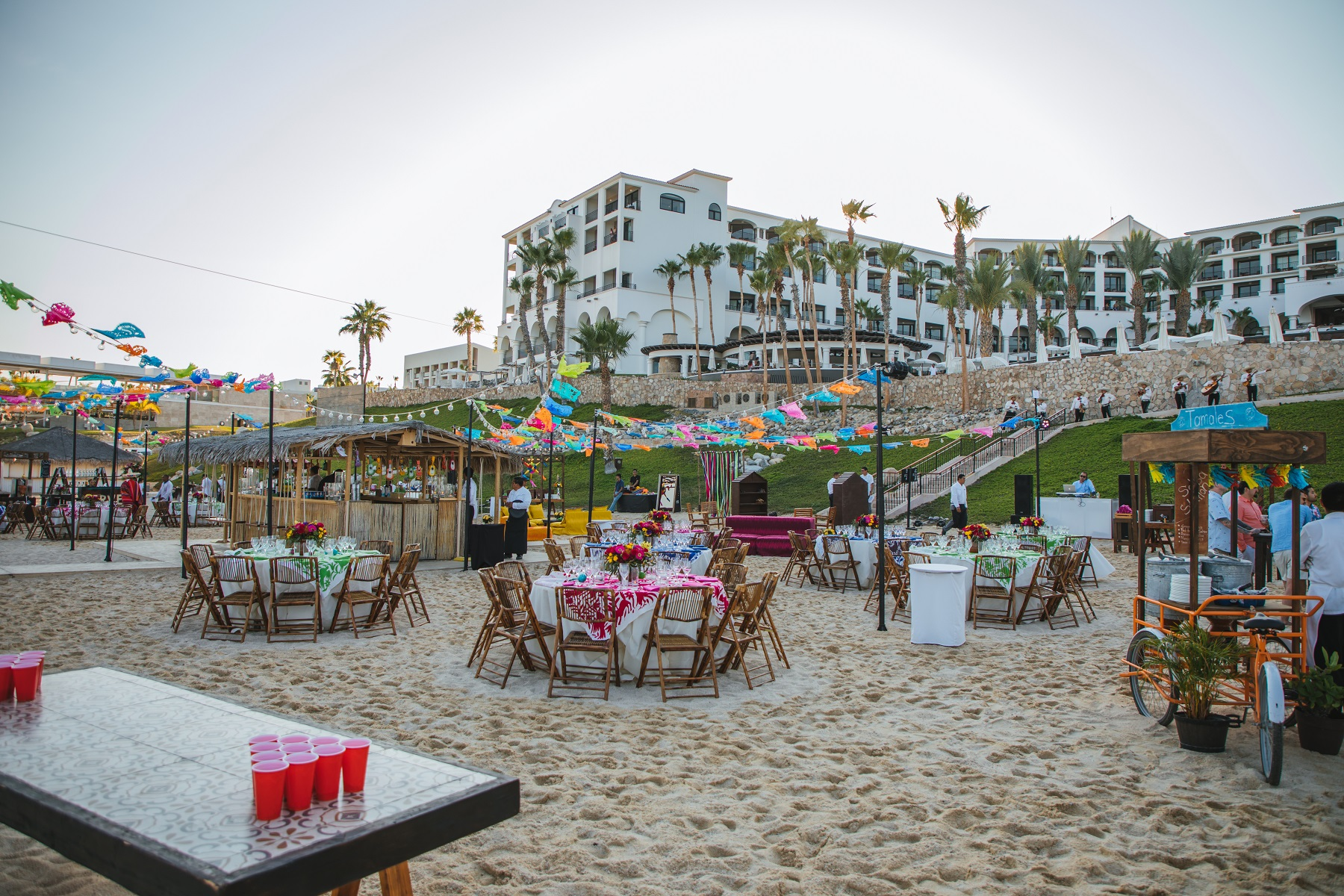 rehearsal dinner mexican theme parties on the beach cabo weddings elena damy hilton los cabos