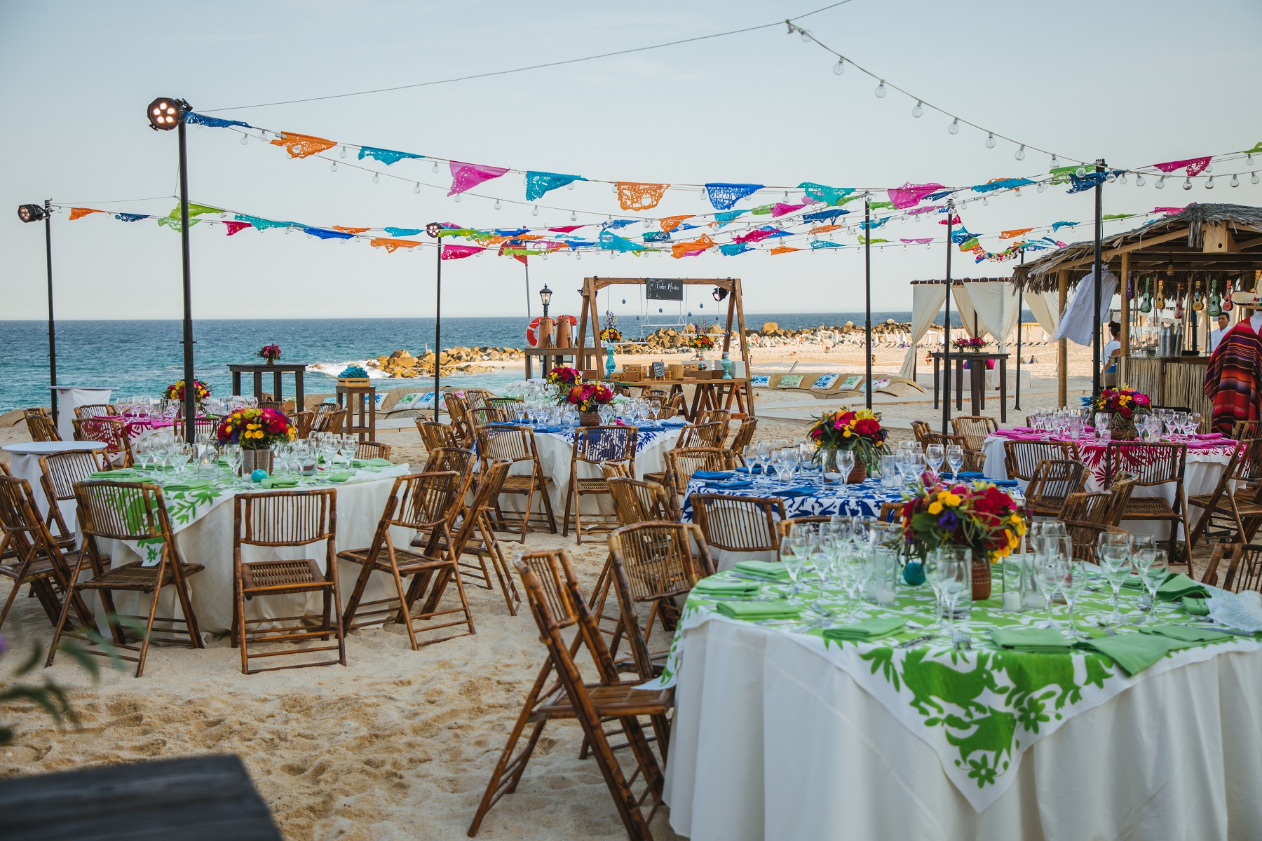 rehearsal dinner mexican theme parties on the beach cabo weddings elena damy