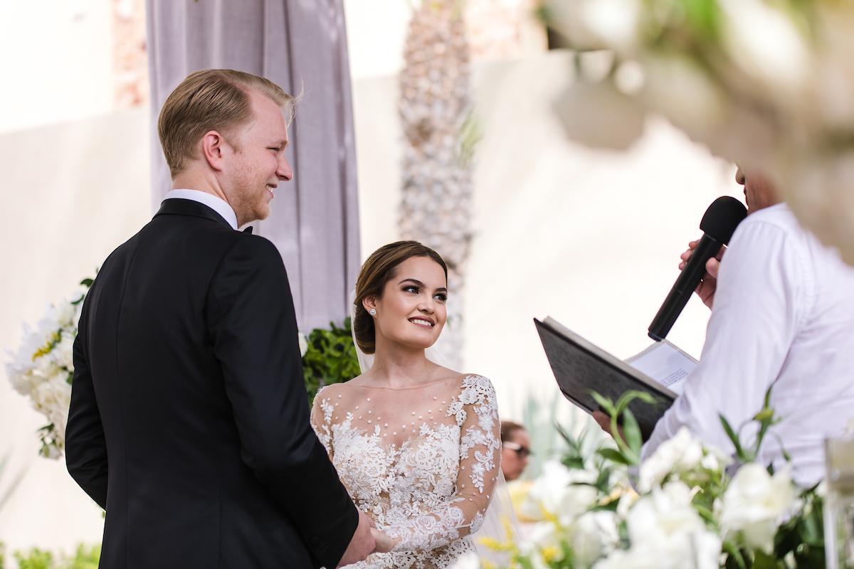 romantic cabo wedding waldorf astoria los cabos