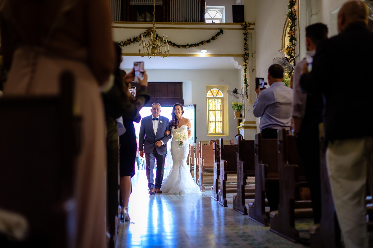 brides entrance church wedding cabo san lucas