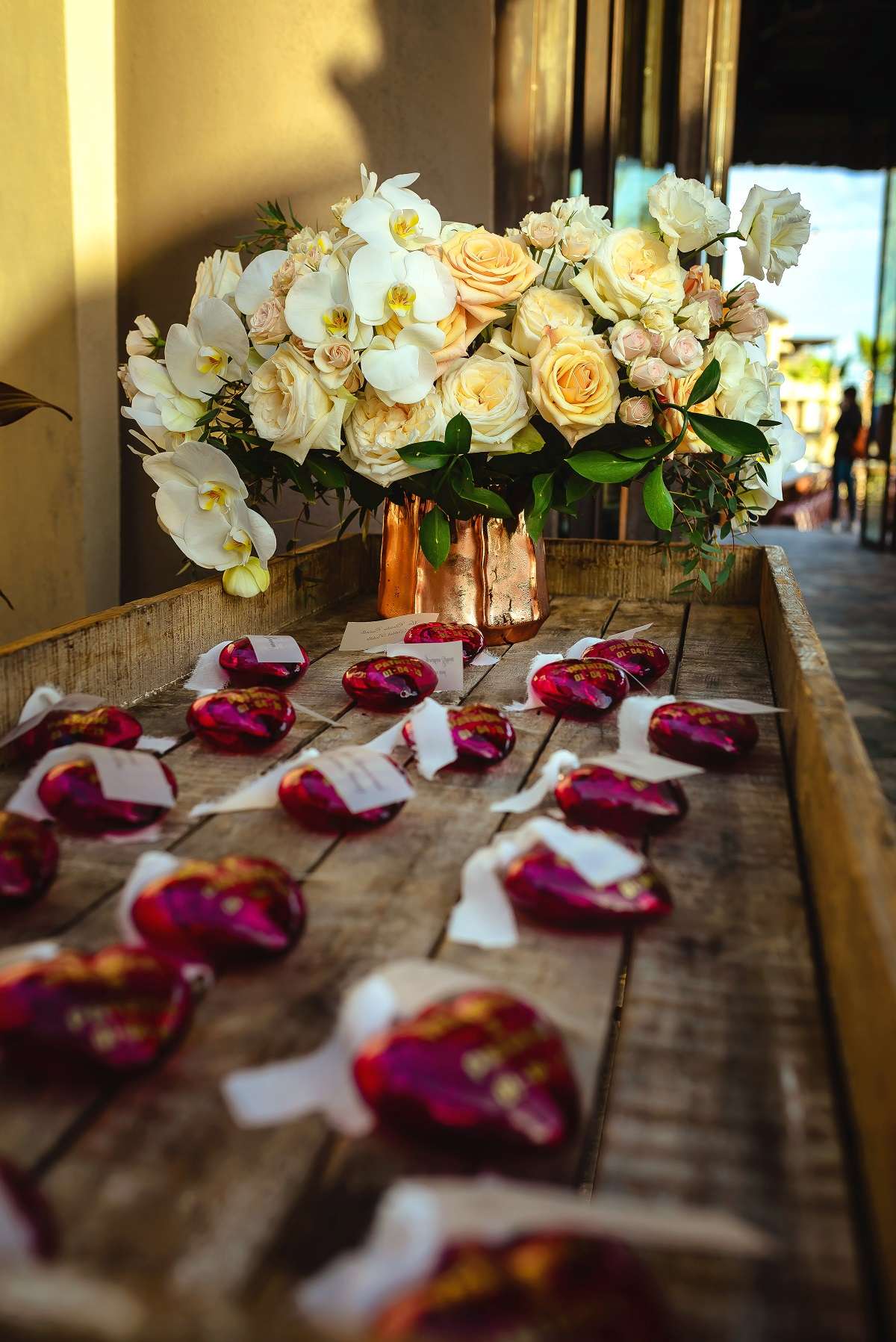 placecard table flowers esperanza resort weddings