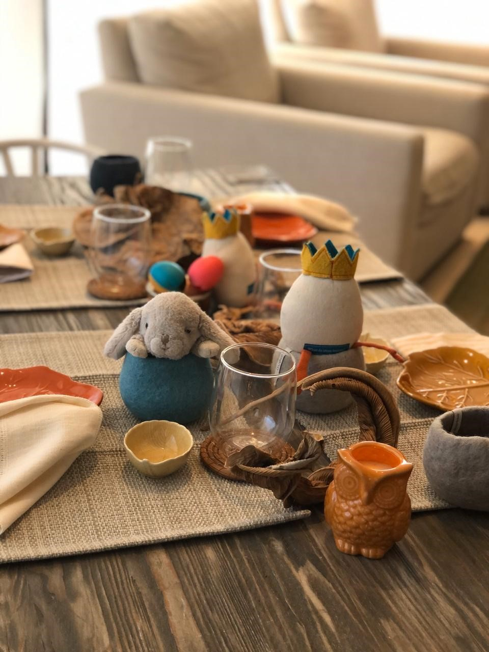 kids table centerpiece easter theme