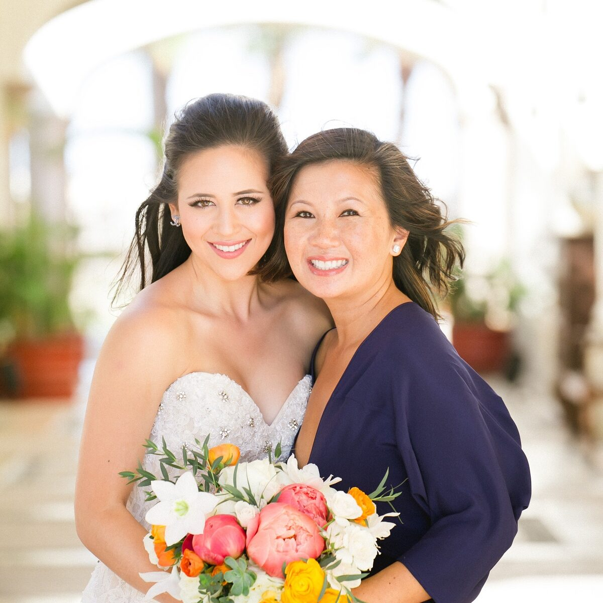 asian bride and her mom