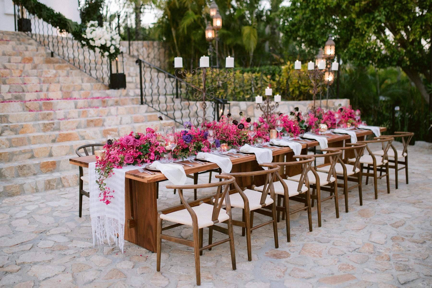 long tables wedding decor mexico event designers