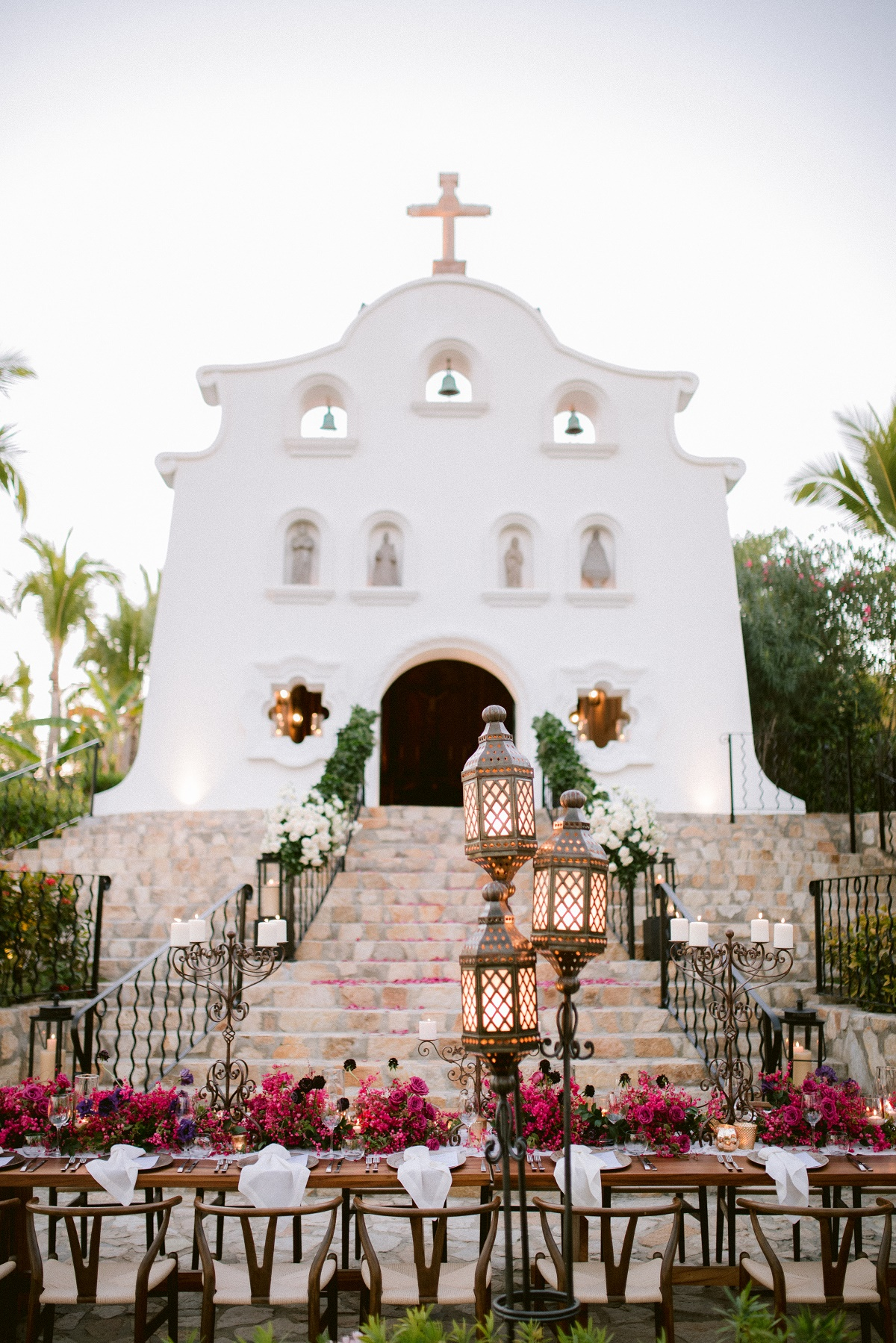 dinner alfresco chapel at palmilla resort cabo