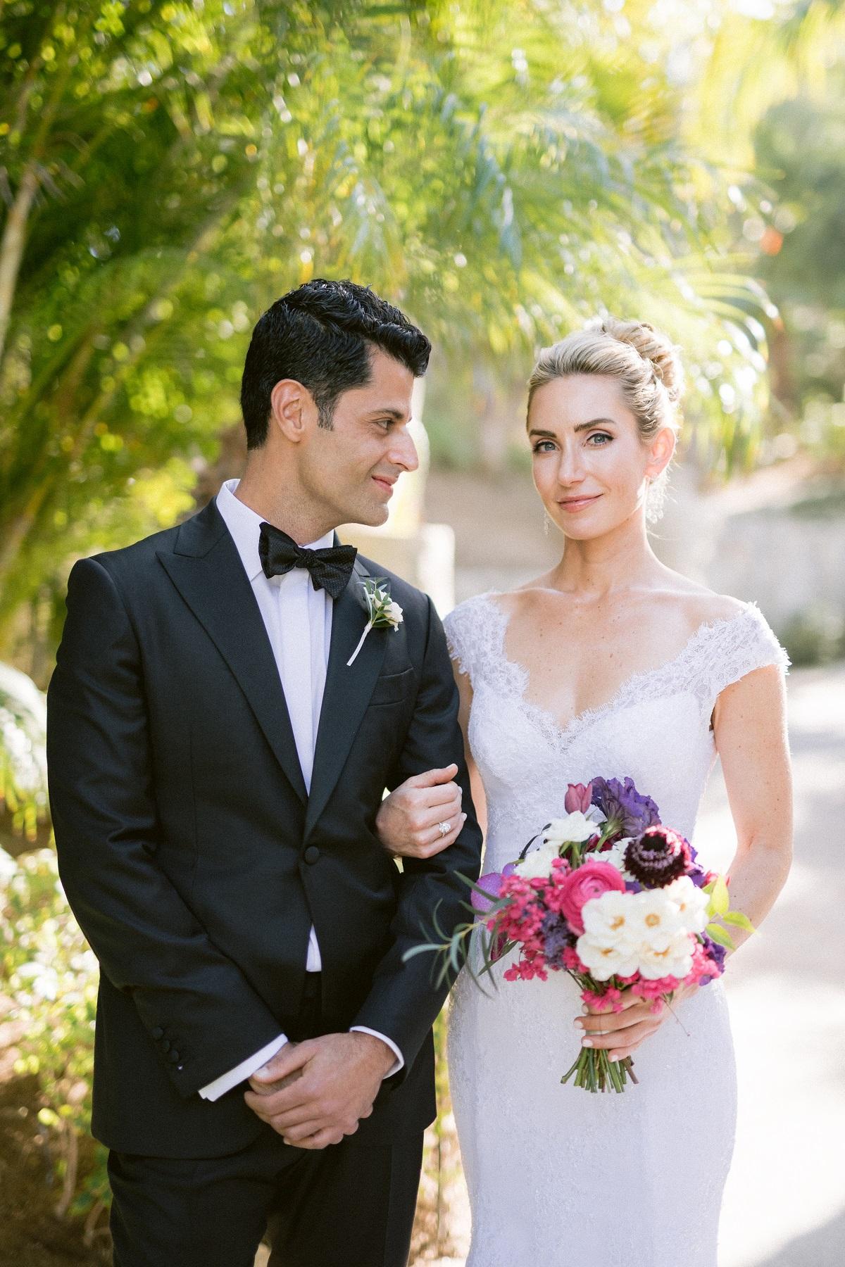 colorful bridal bouquet elena damy floral design