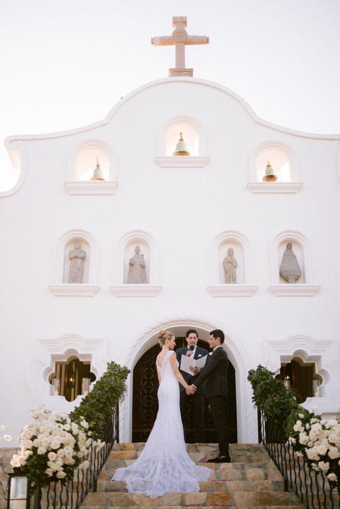 wedding ceremony palmilla chapel cabo