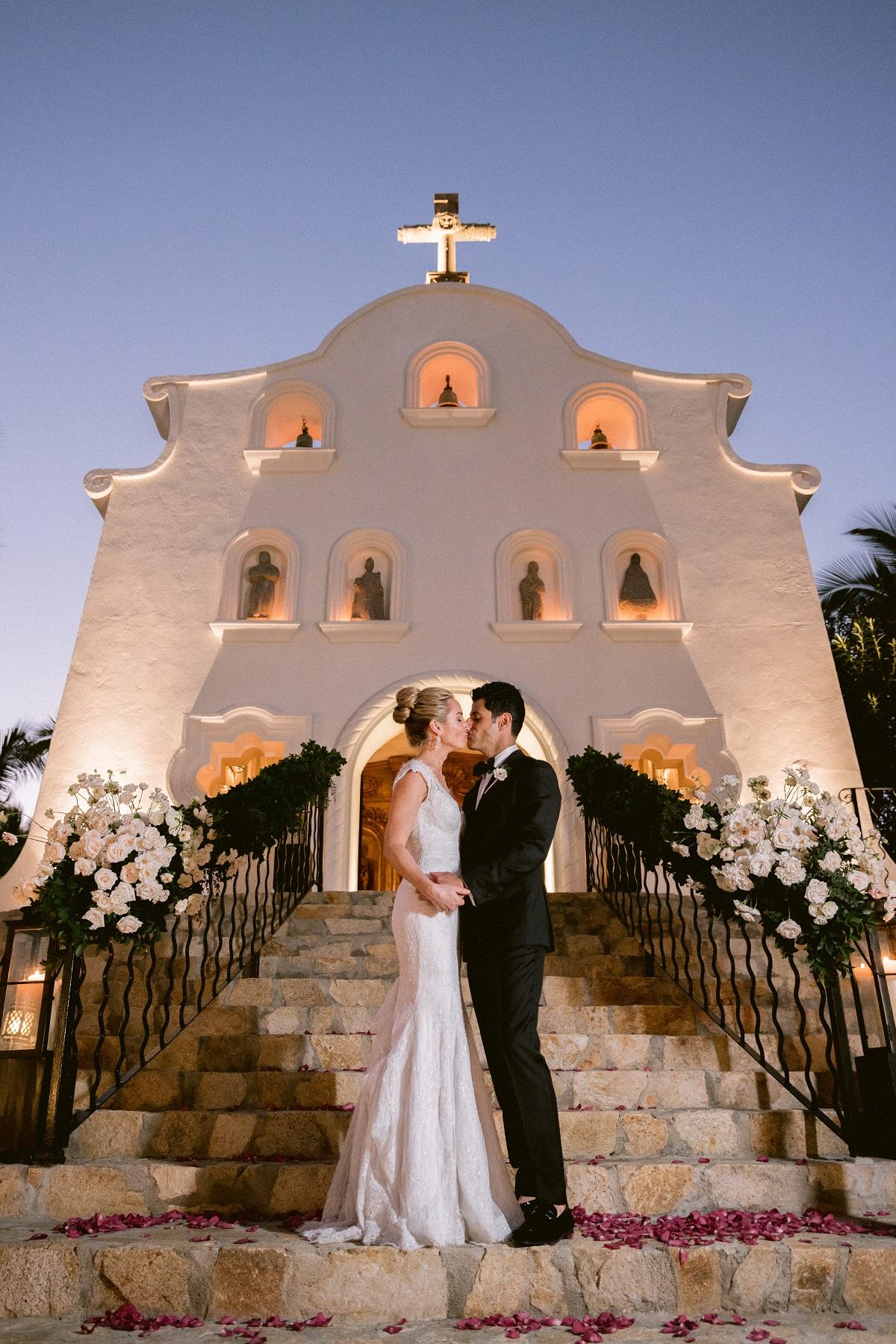 sunset wedding cabo san lucas palmilla resort