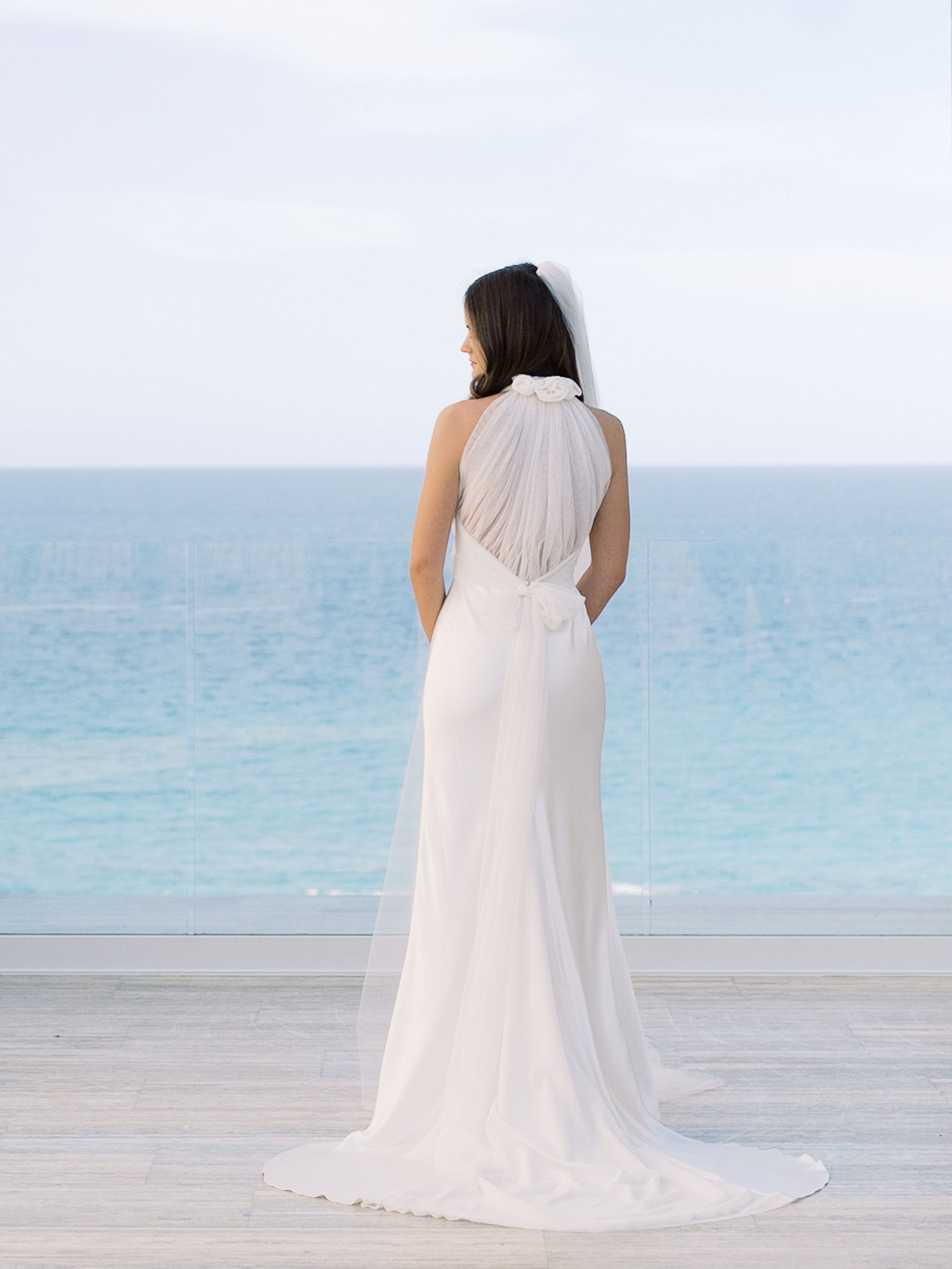 bridal gown from the back solaz wedding