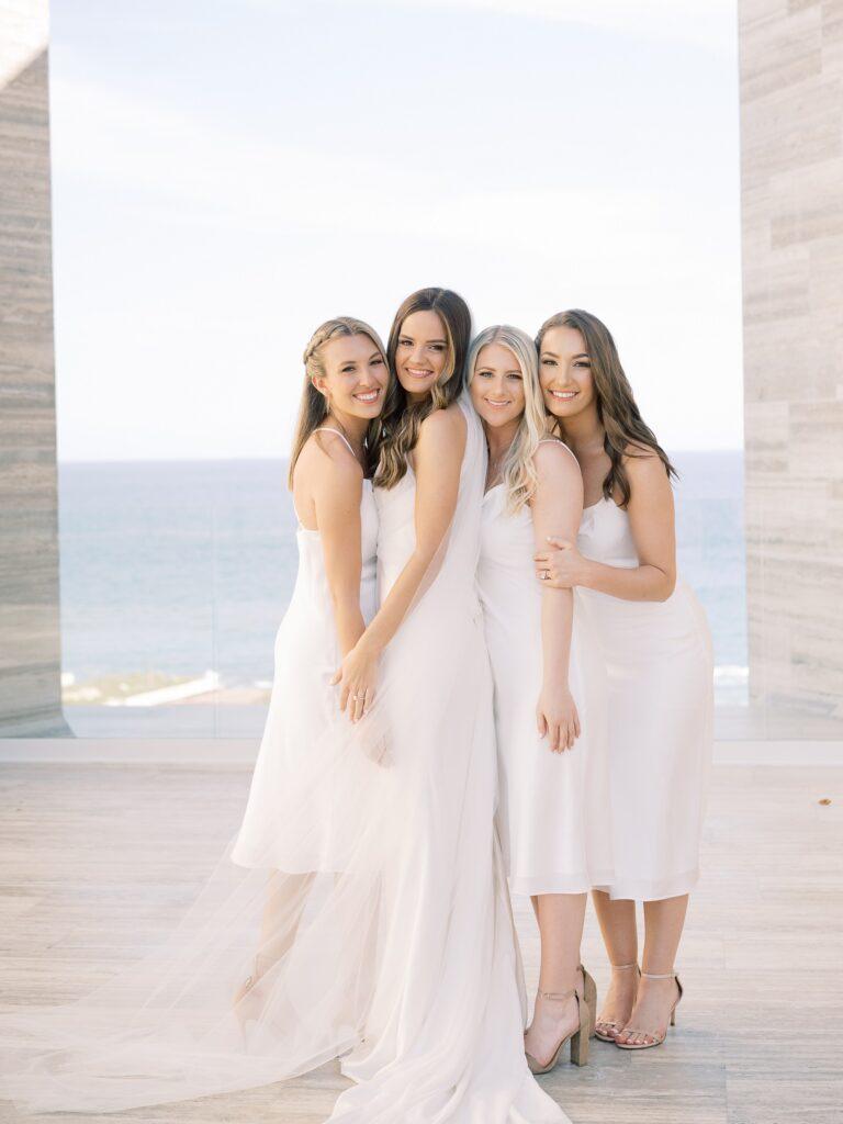 bride and bridesmaids solaz wedding