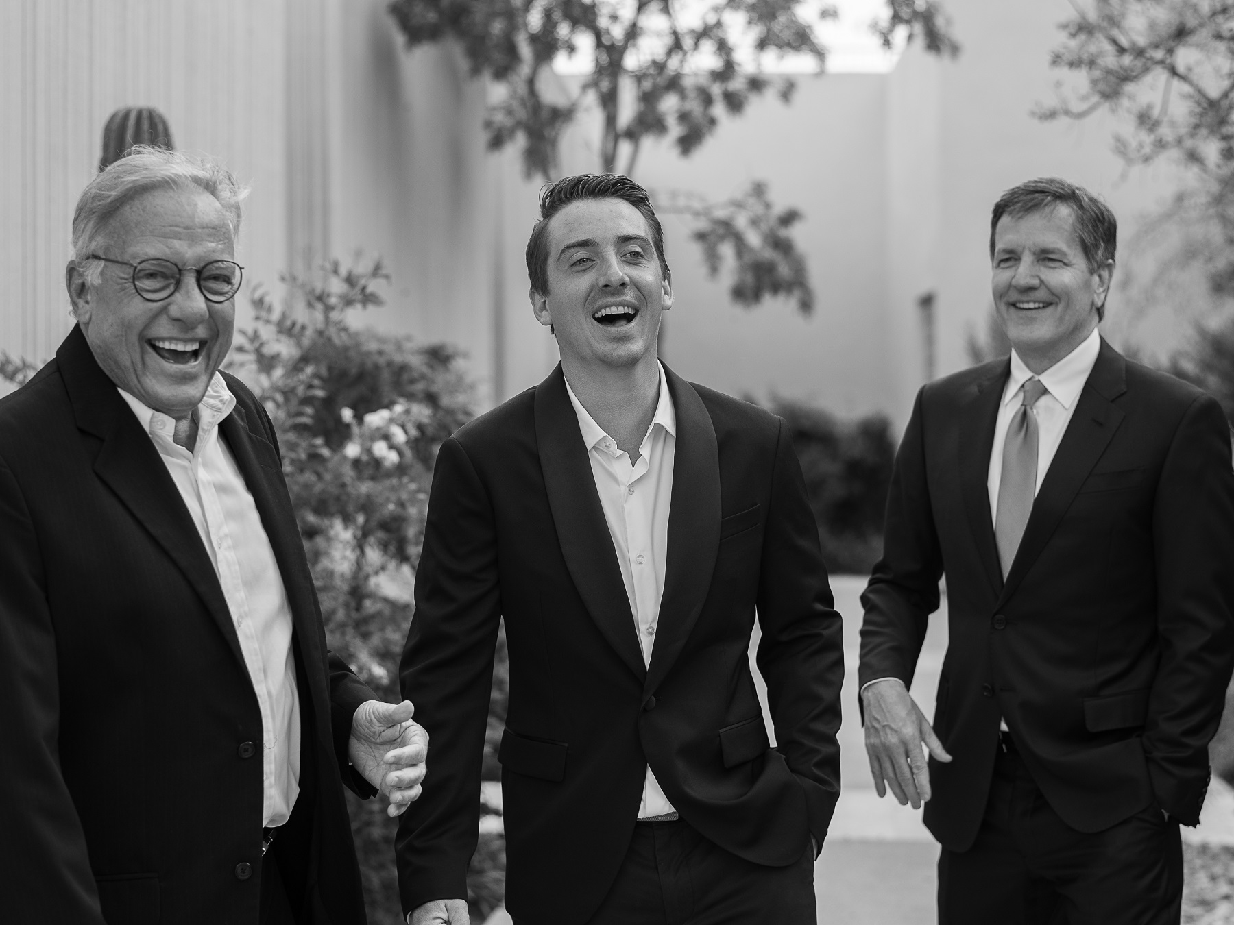groom with his father and father of the bride