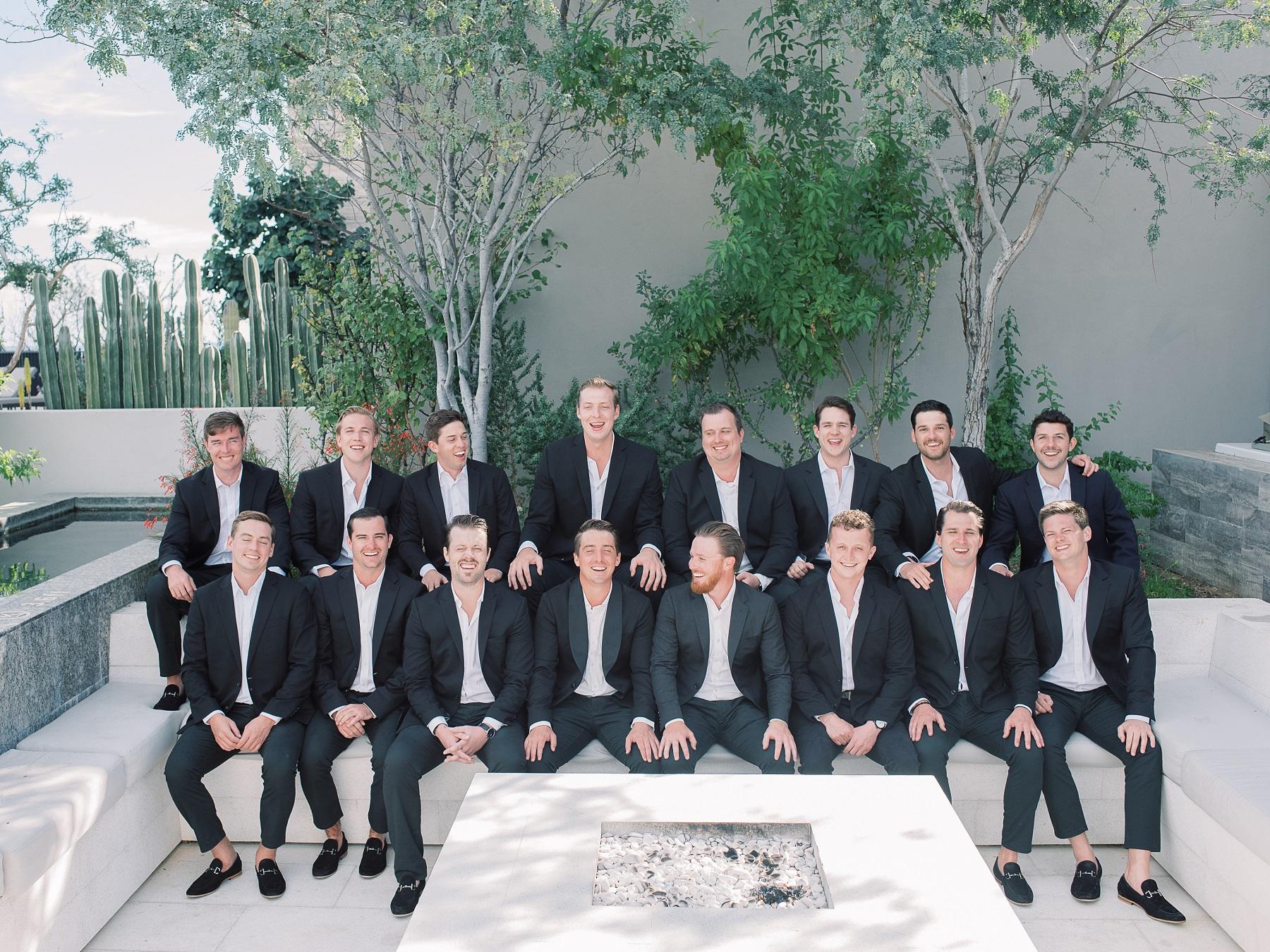 groomsmen cabo wedding solaz resort