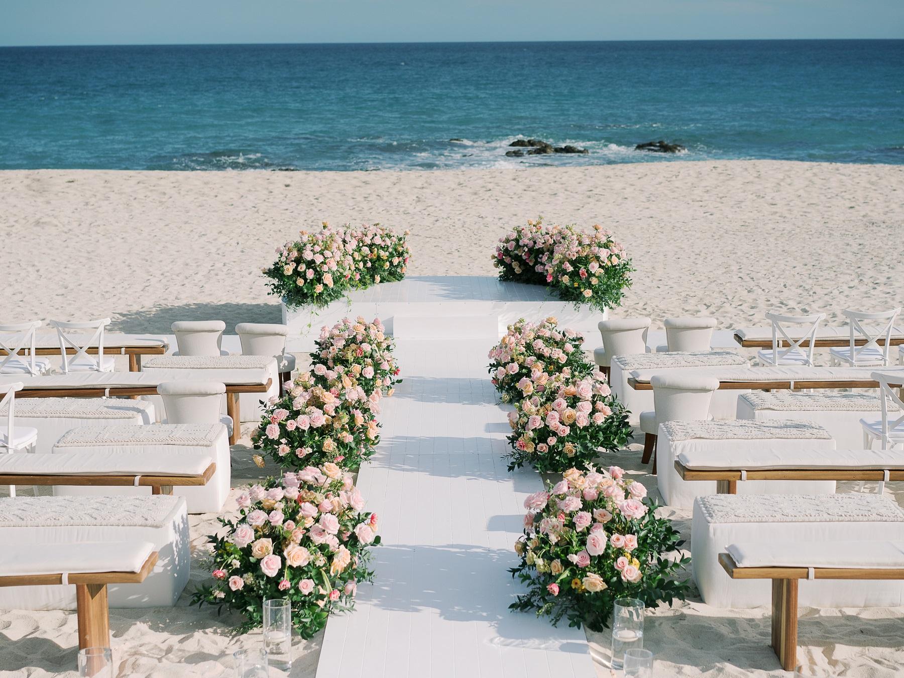 beach wedding cabo san lucas solaz