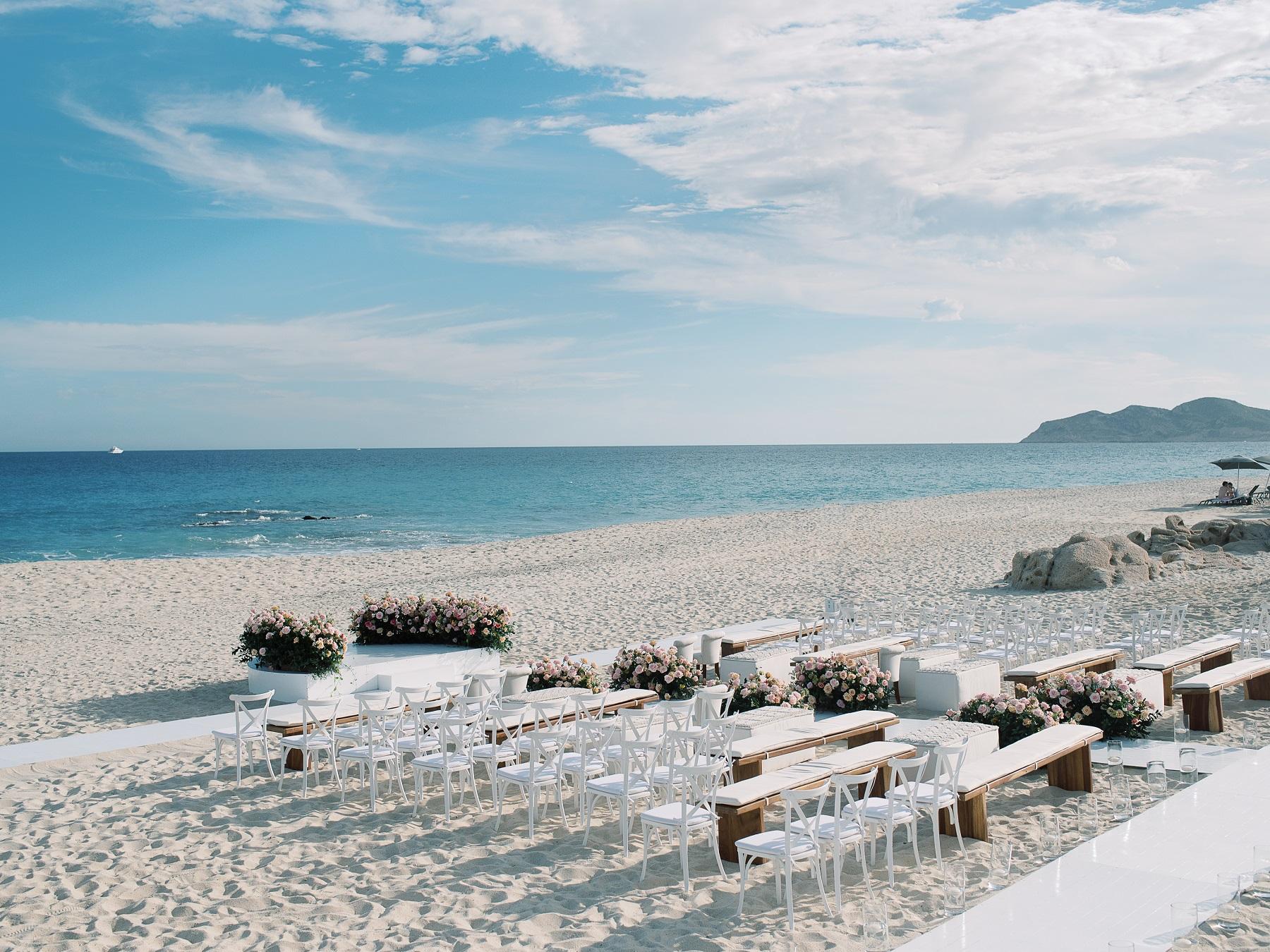beach wedding ceremony solaz resort