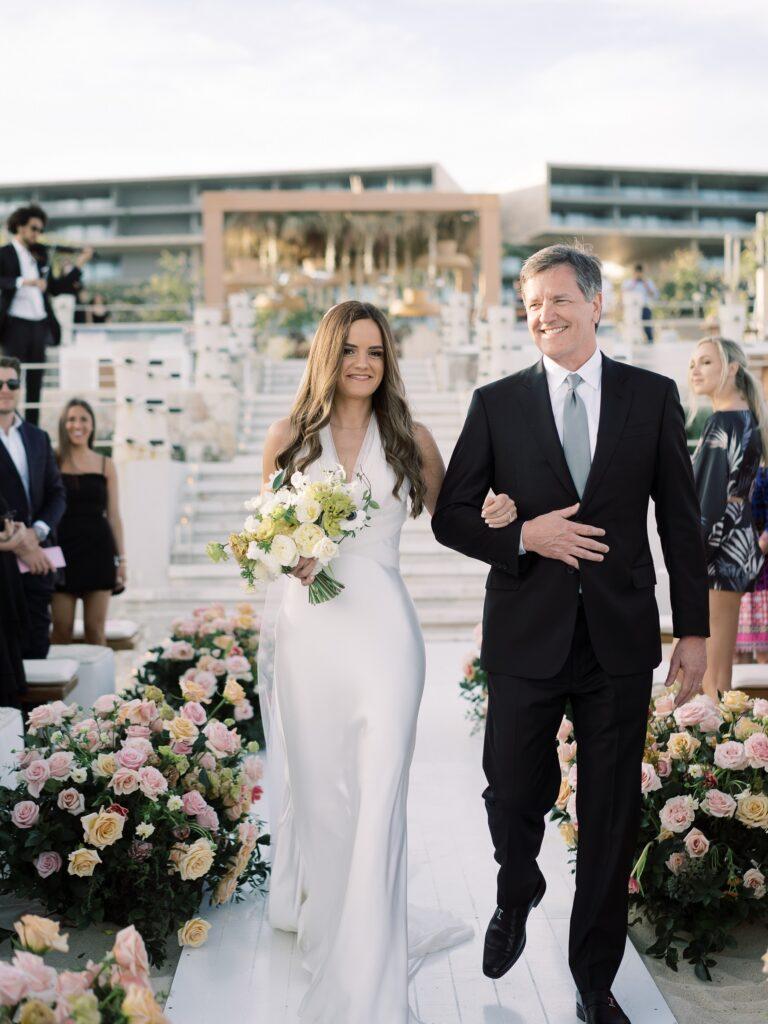 groom cries bride's entrance