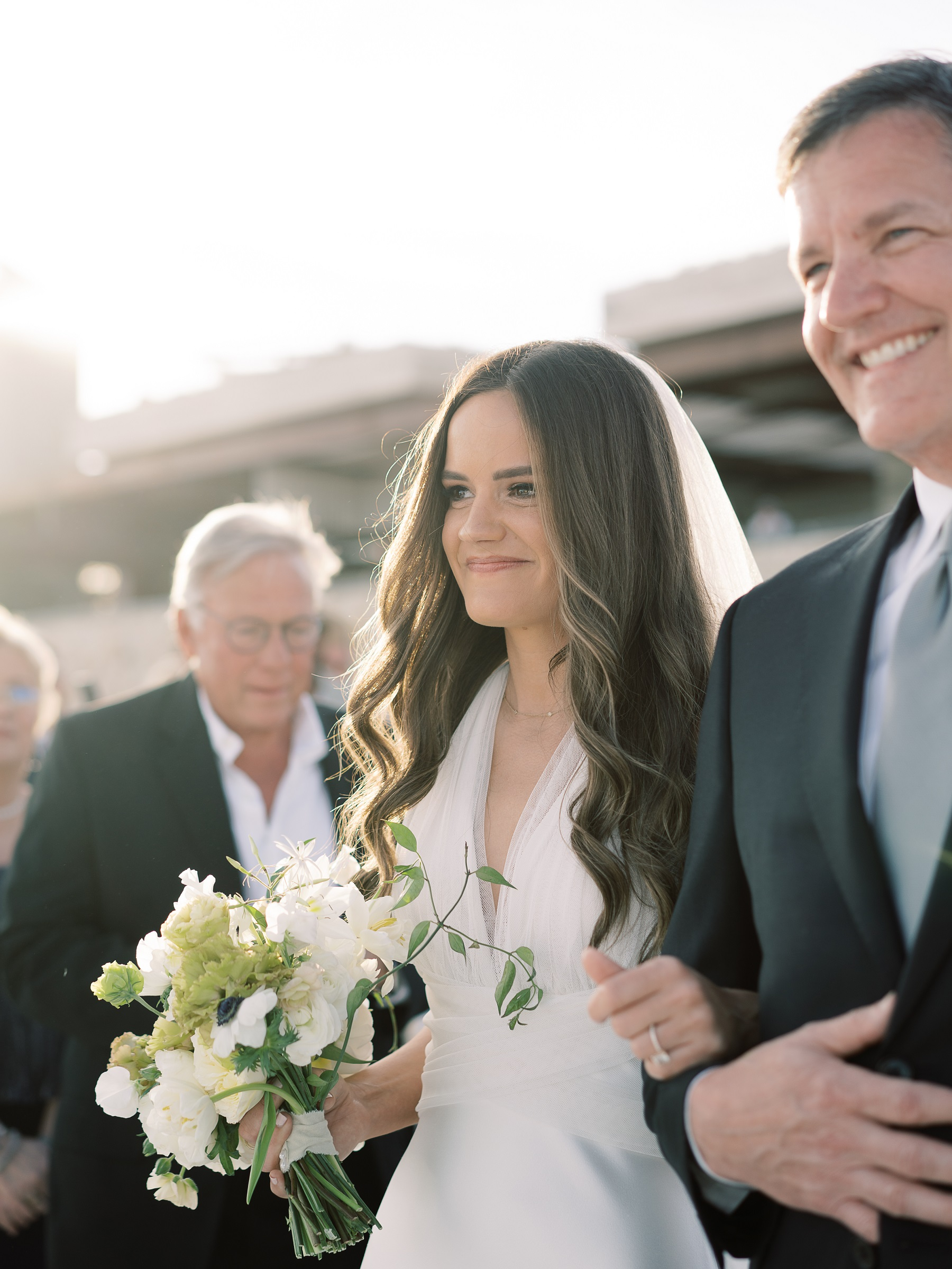 bride and her father solaz wedding
