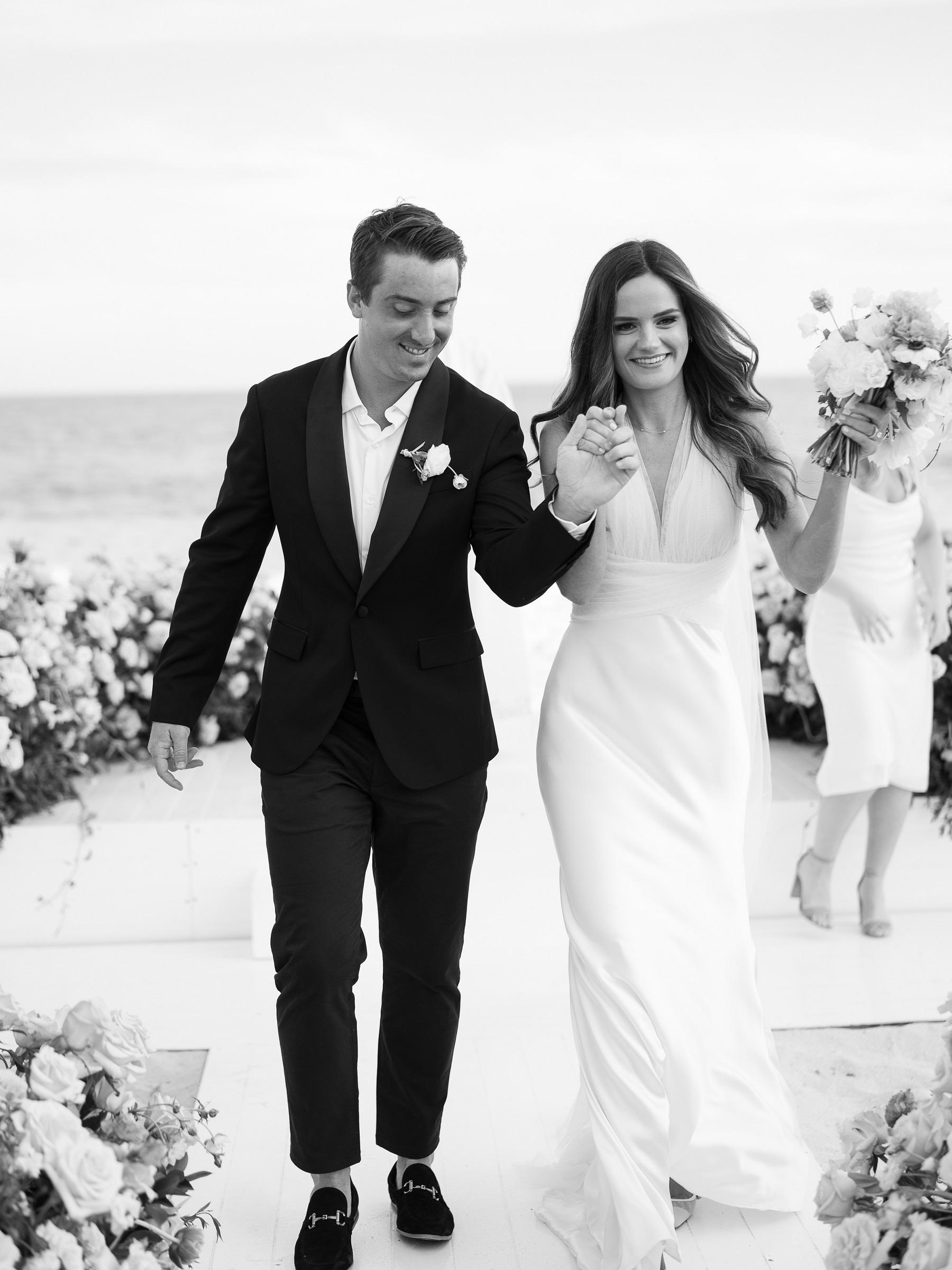 wedding recessional beach wedding solaz resort