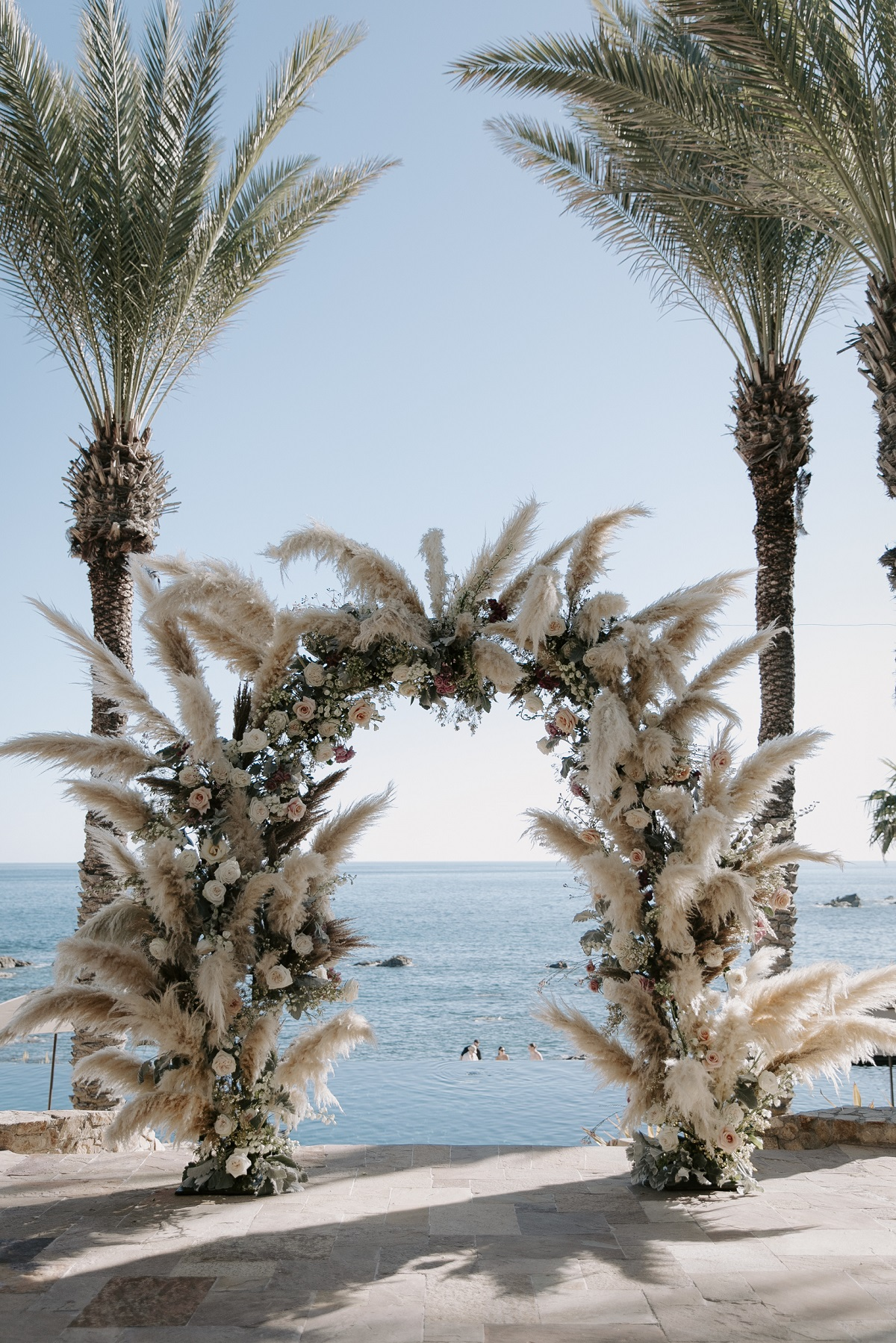 pampas grass wedding esperanza resort cabo san lucas