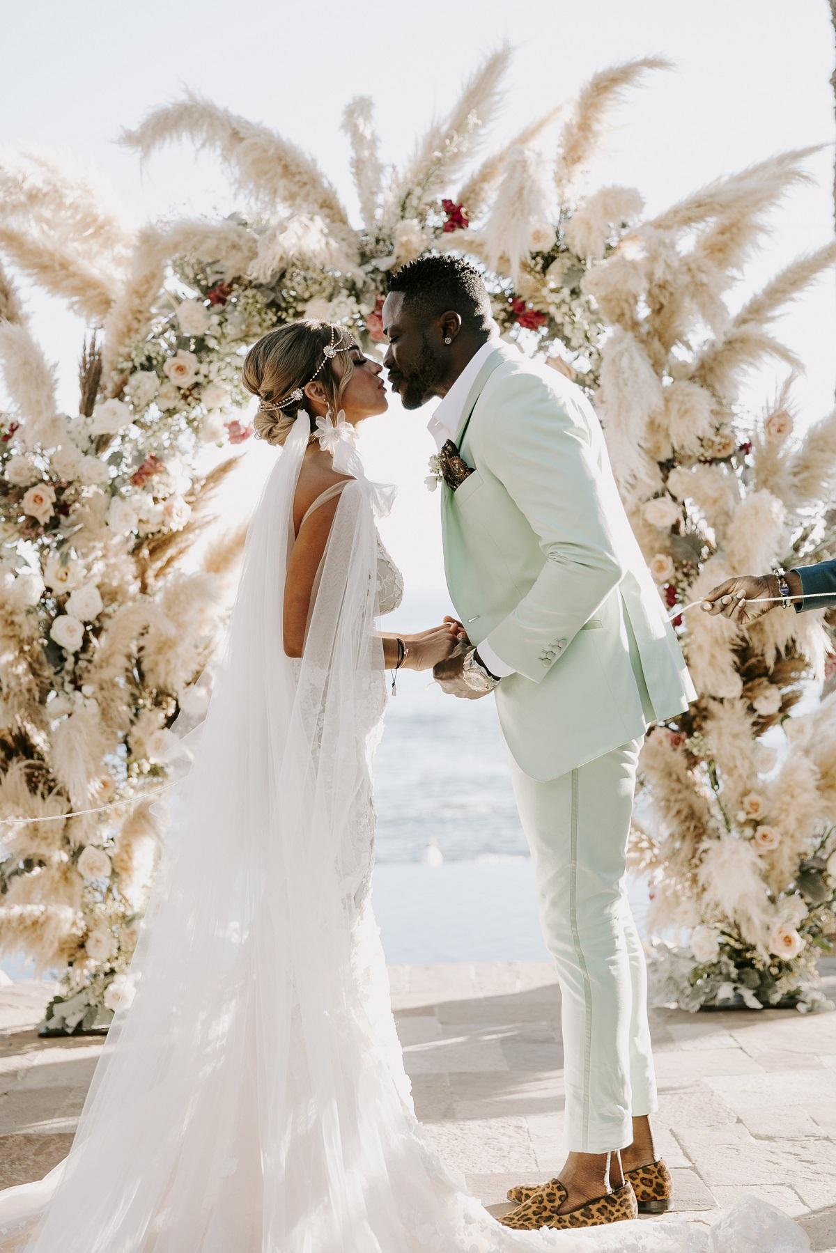 pampas grass wedding esperanza resort cabo elena damy